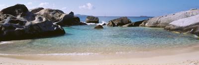 British Virgin Islands, Virgin Gorda, the Baths, Rock Formation in the Sea