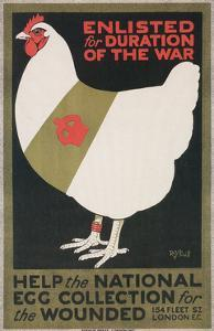 British World War I Poster for Egg Collection