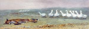 A Game of Fox and Geese, 1868 by Briton Rivi?re