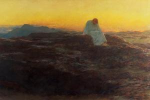 Christ in the Wilderness, 1898 by Briton Rivi?re