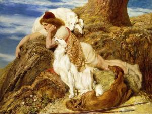 Endymion 'Ah! Well-A-Day, Why Should Our Young Endymion Pine Away'-Keats by Briton Rivi?re