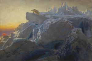 Beyond Man's Footsteps by Briton Riviere