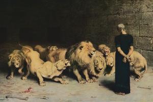 'Daniel in the Lions' Den', 1872, (1917) by Briton Riviere