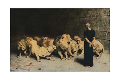 'Daniel in the Lions' Den', 1872, (1917)