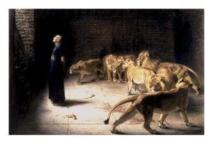 Daniel's Answer to the King by Briton Rivière