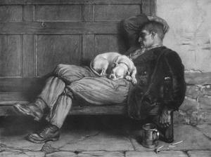 'Let Sleeping Dogs Lie!', 1880, (1912) by Briton Riviere