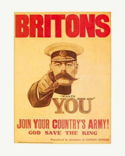 Britons: Your Country Needs You!-The Vintage Collection-Art Print