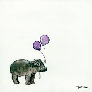 Nursery Hippo by Britt Hallowell