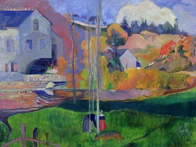 Brittany Landscape: the David Mill, 1894-Paul Gauguin-Premium Giclee Print