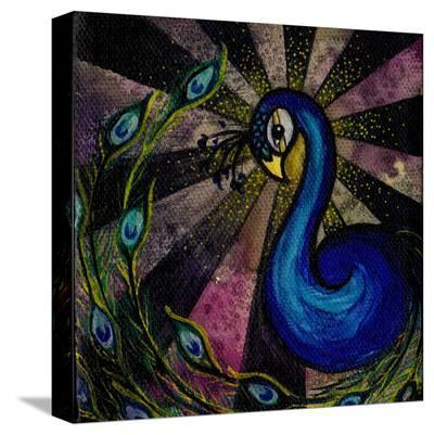 Brittany's Peacock-Brittany Morgan-Stretched Canvas Print