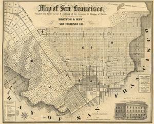 Map of San Francisco, c.1852 by Britton & Rey