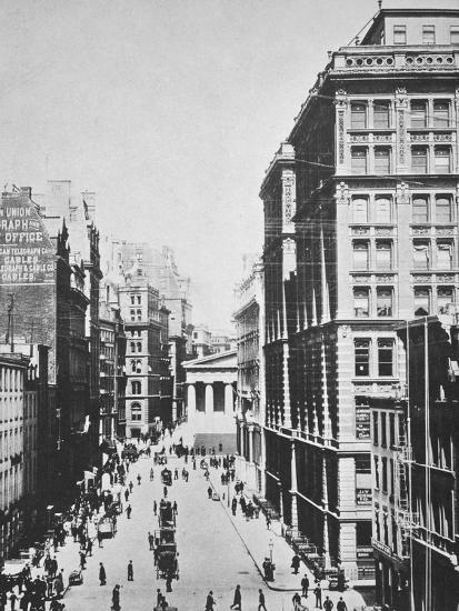 Broad Street, looking towards Wall Street, New York City, USA, 1893-Unknown-Photographic Print