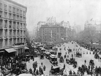Broadway at Madison Square Park in New York City, 1893--Photographic Print