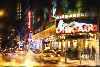 Broadway at Night II-Philippe Hugonnard-Giclee Print