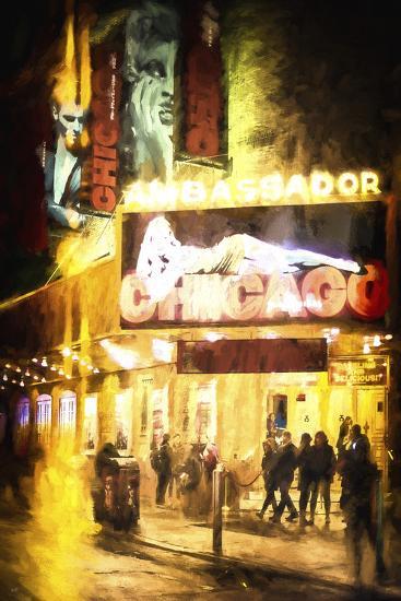 Broadway at Night-Philippe Hugonnard-Giclee Print