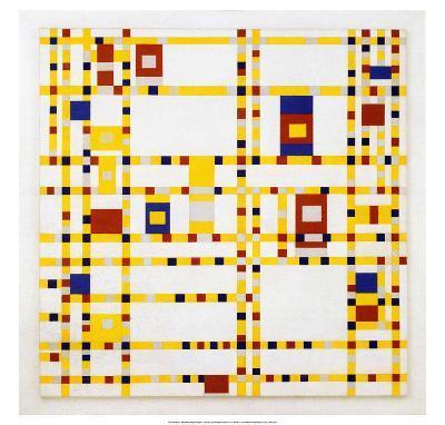 Broadway Boogie Woogie. 1942-43-Piet Mondrian-Art Print