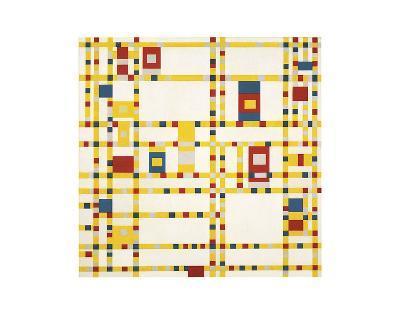 Broadway Boogie Woogie-Piet Mondrian-Art Print