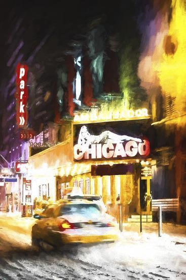Broadway in Winter-Philippe Hugonnard-Giclee Print