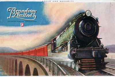 Broadway Limited, Pennsylvania Railroad, 1927--Giclee Print