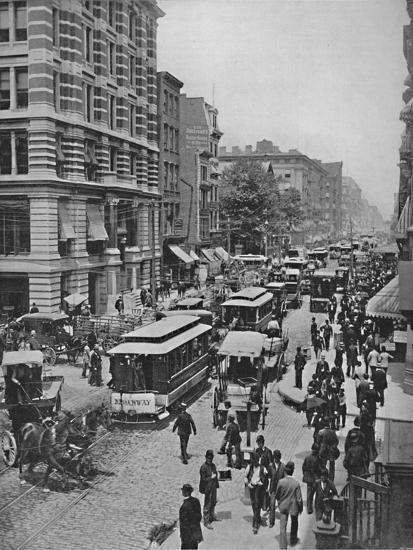 'Broadway, New York', 19th century-Unknown-Photographic Print