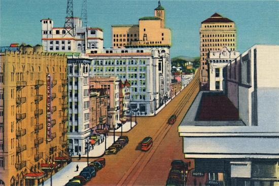 'Broadway. San Diego, California', c1941-Unknown-Giclee Print