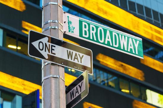 Broadway Sign in Time Square, New York Photographic Print by Sylvain Sonnet  | Art com