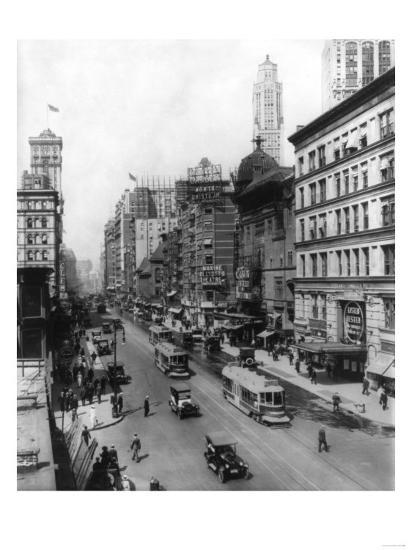 Broadway Theatres Winter Garden, Maxine Elliott's, Casino & Knickerbocker NYC Photo - New York, NY-Lantern Press-Art Print