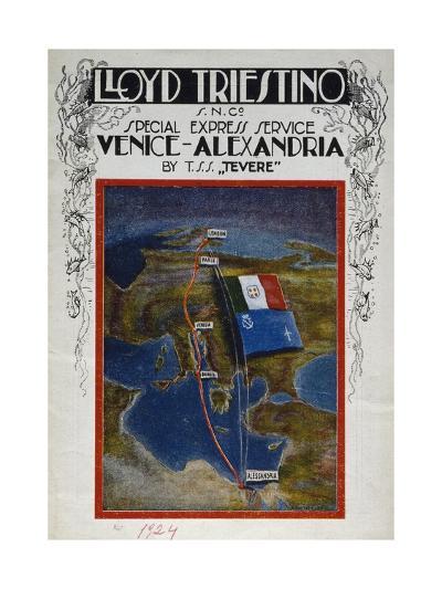 Brochure for Venice to Alexandria Cruise on Board Lloyd Company Ship--Giclee Print