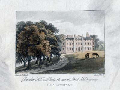 Brocket Hall, Herts, the Seat of Lord Melbourne, 1817-Daniel Havell-Giclee Print