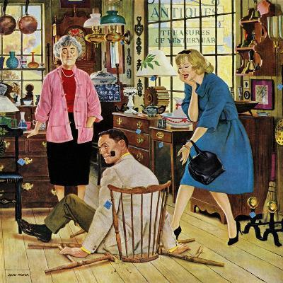 """""""Broken Antique Chair"""", June 20, 1959-John Falter-Giclee Print"""