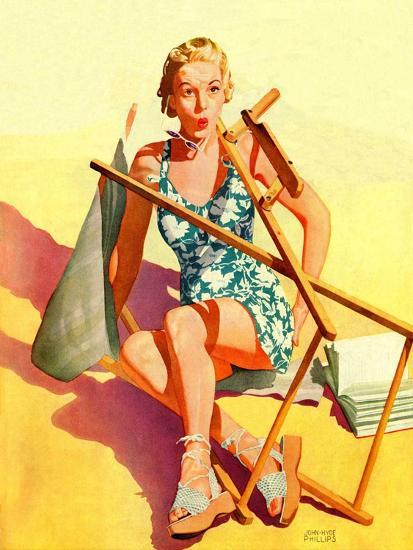 """Broken Beach Chair,""August 12, 1939-John Hyde Phillips-Giclee Print"