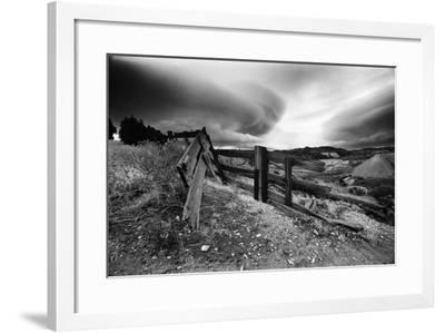 Broken Fence, Virginia City, Nevada 74-Monte Nagler-Framed Photographic Print