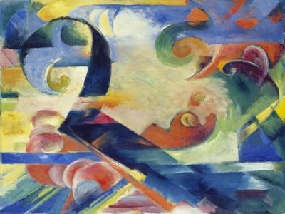 Broken Forms, 1914-Franz Marc-Giclee Print