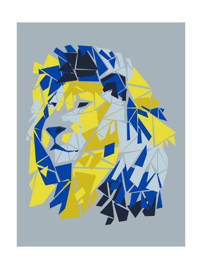 Broken Lion--Art Print