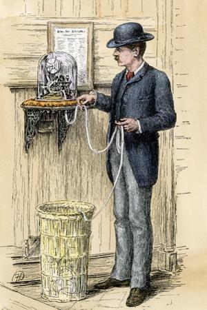Broker Reading the Stock Ticker at the New York Stock Exchange, 1880s