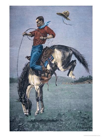 Bronco-Buster-Frederic Sackrider Remington-Giclee Print
