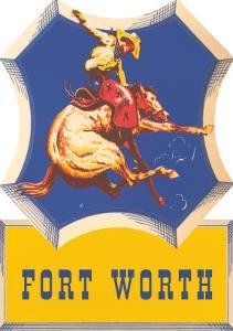 Bronco Rider, Fort Worth, Texas