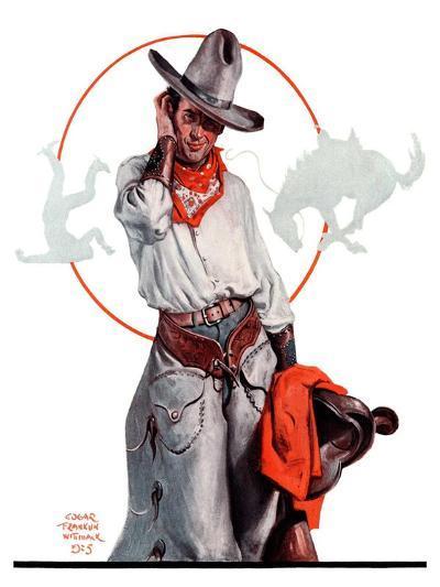 """""""Bronco Toss,""""October 10, 1925-Edgar Franklin Wittmack-Giclee Print"""