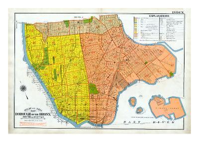 Bronx Index Map--Giclee Print