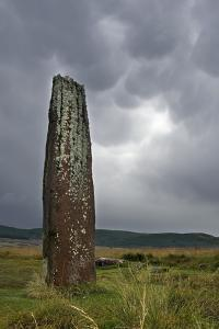 Bronze Age Standing Stone on Machrie Moor, Isle of Arran, North Ayrshire, Scotland, Uk