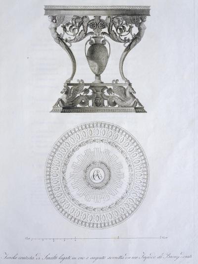 Bronze and Enamel Table, by Dala, Designed by Giuseppe Borsato, Italy, 19th Century--Giclee Print