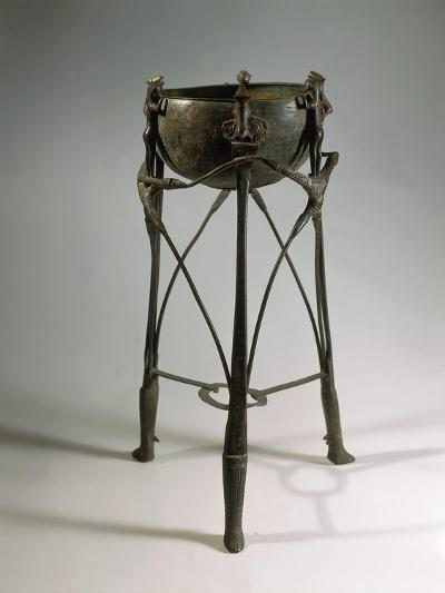 Bronze and Iron Tripod Cauldron Decorated with Animal and Human Figures--Giclee Print