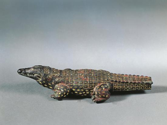 Bronze and Nielloed Electrum Crocodile Figure, from Faiyum, Middle Kingdom--Giclee Print