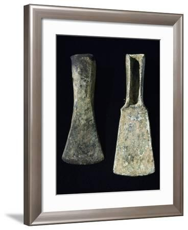 Bronze Axes Found in Umbria, Italy, Bronze Age--Framed Giclee Print