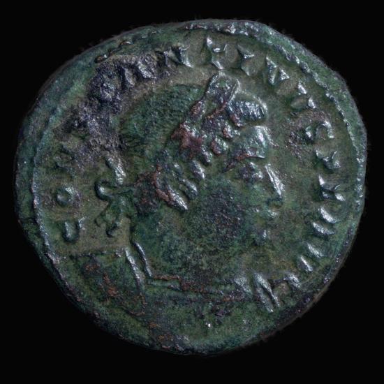 Bronze coin of Constantine I, 4th century. Artist: Unknown-Unknown-Giclee Print