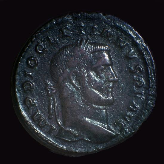 Bronze coin of Diocletian, 3rd century-Unknown-Giclee Print