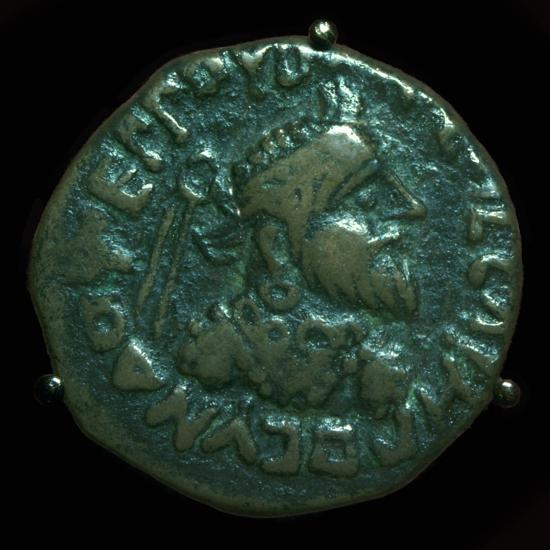 Bronze coin of the Parthian King Gondophares. Artist: Unknown-Unknown-Giclee Print