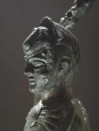 Bronze Depicting Hercules in Battle, Detail of the Head, from the Sanctuary of Villa Cassarini--Giclee Print
