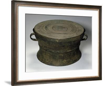 Bronze Drum, China, 3rd-1st Century BC--Framed Giclee Print