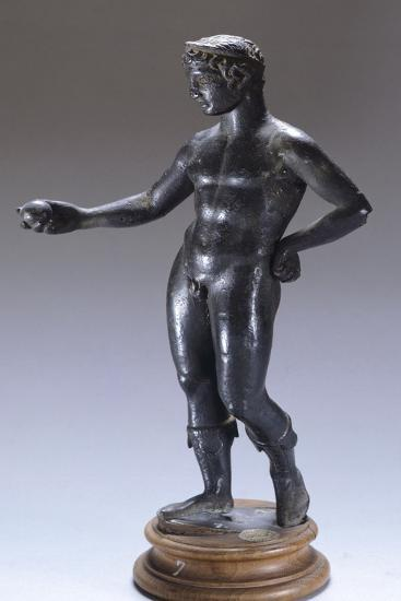 Bronze Figure Making an Offering BC--Giclee Print